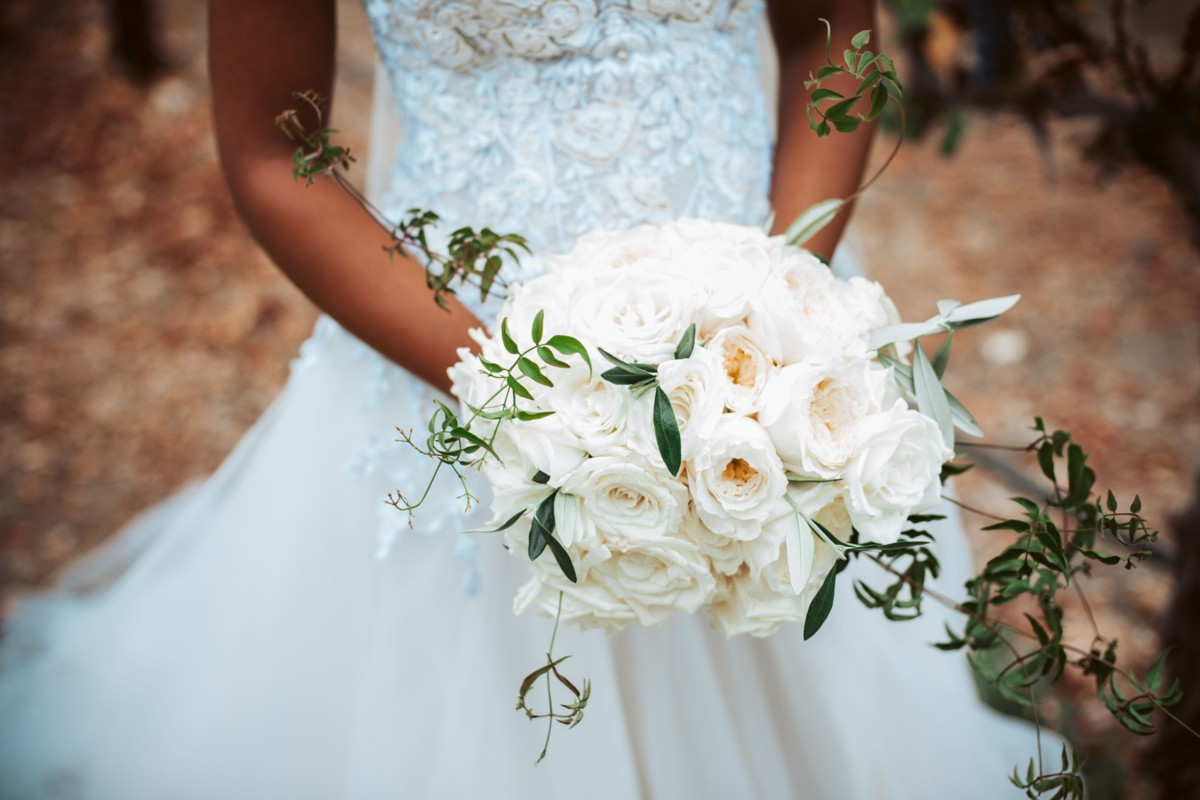 Inspirations by Gina - Lake Tahoe wedding florist - bride bouquet white