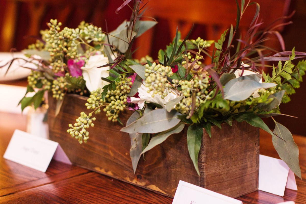 Inspirations by Gina - Lake Tahoe wedding florist - rustic centerpiece