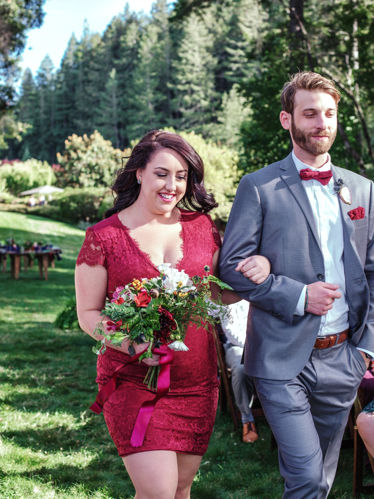Inspirations by Gina - Lake Tahoe wedding florist - bridesmaid with bouquet