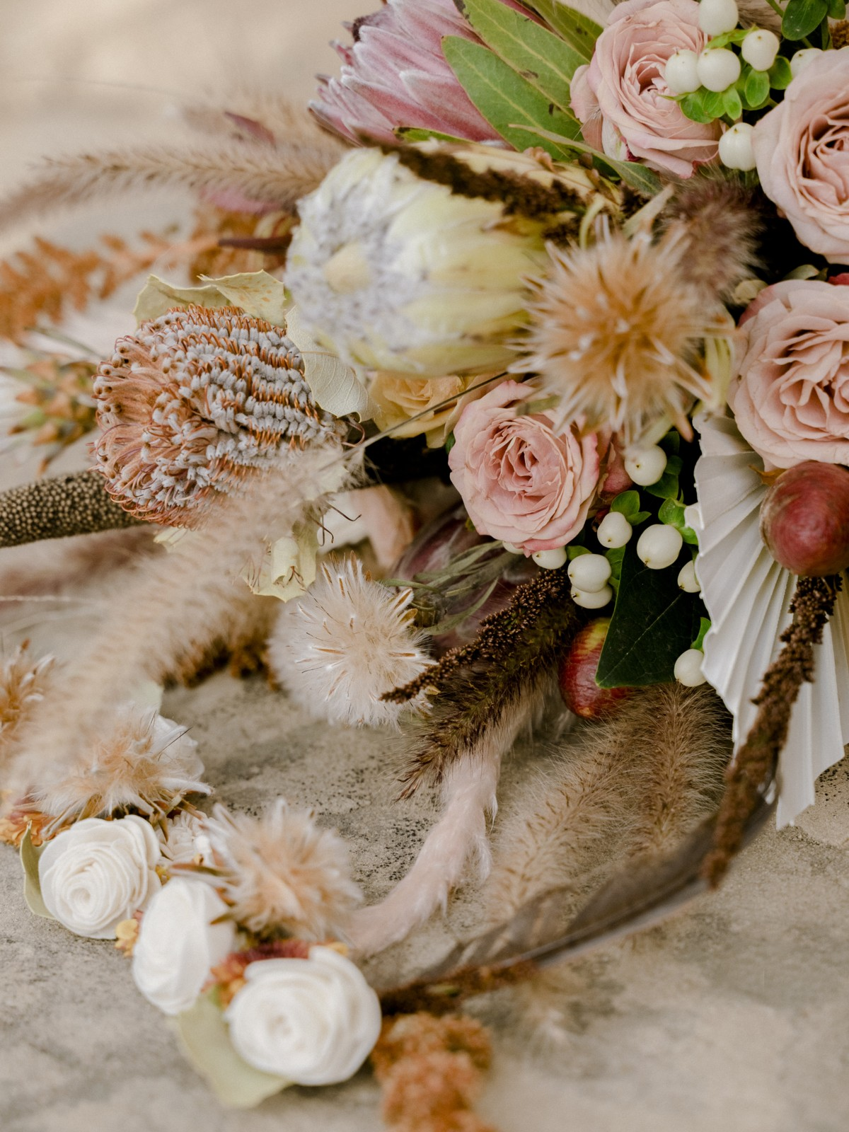 Inspirations by Gina - Lake Tahoe wedding florist - centerpiece closeup