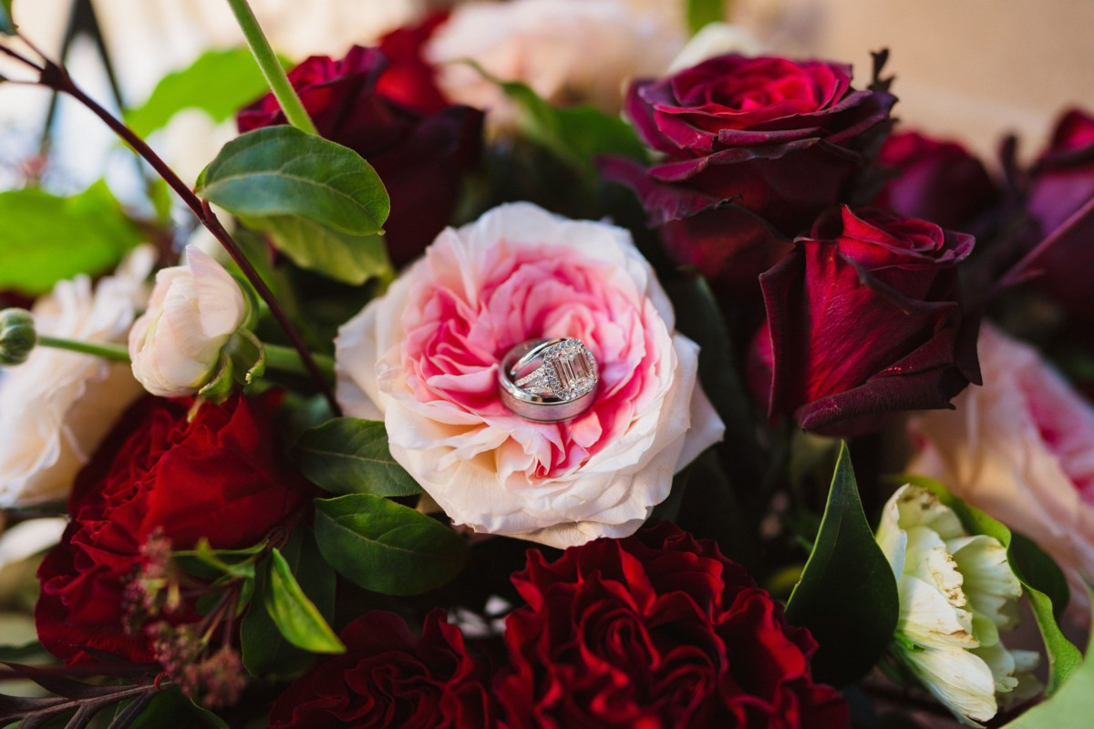Inspirations by Gina - Lake Tahoe wedding florist - flowers with wedding rings