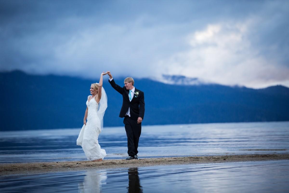Jeramie Lu Photography - wedding couple dancing at Lake Tahoe