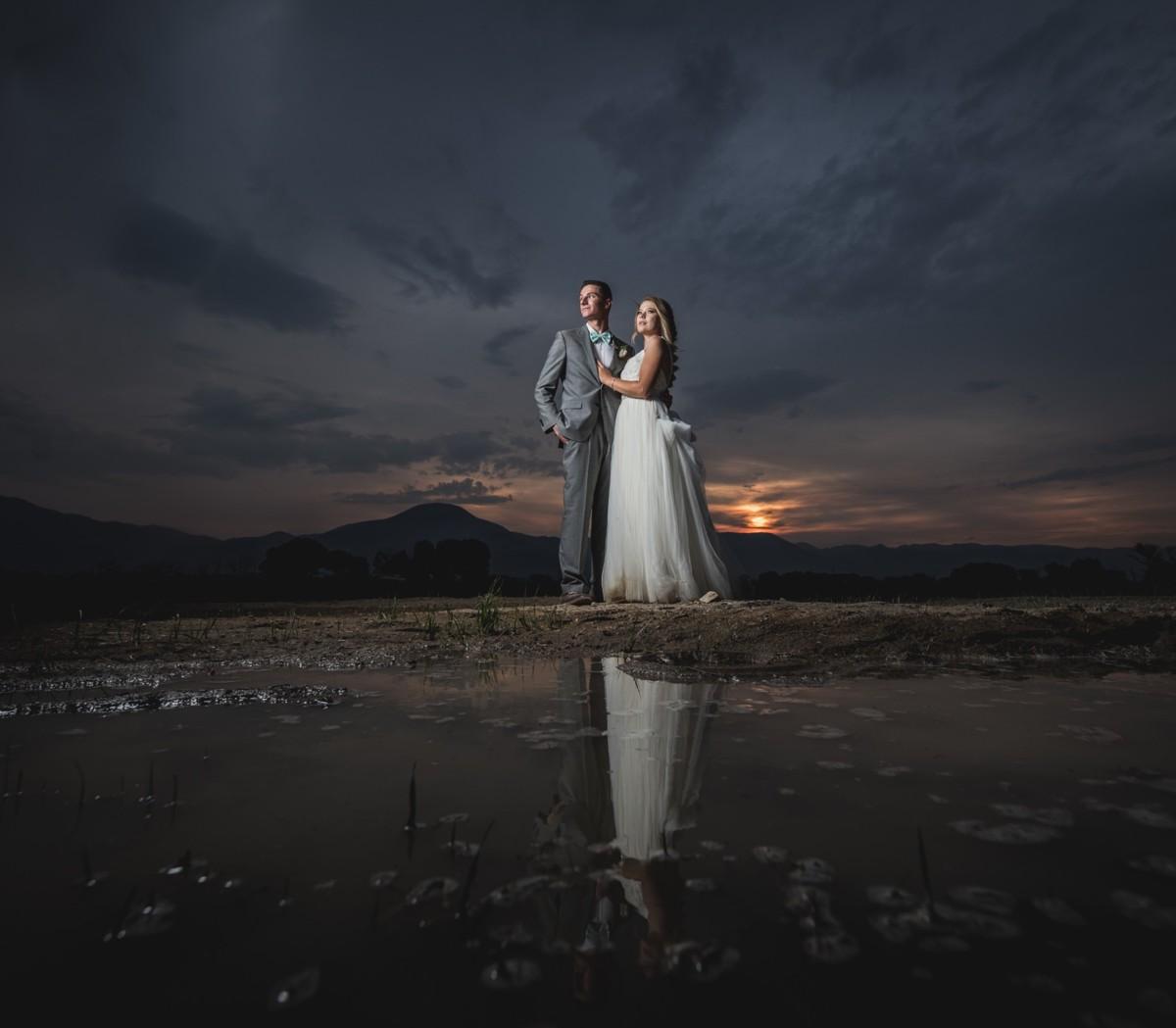 Jeramie Lu Photography - couple at sunset