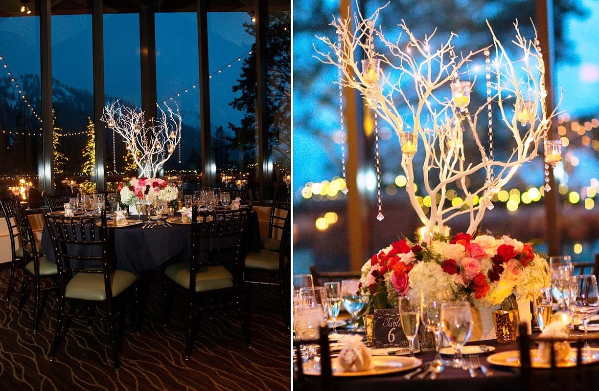 Table & Centerpiece Lake Tahoe wedding rentals Manzanita Glow