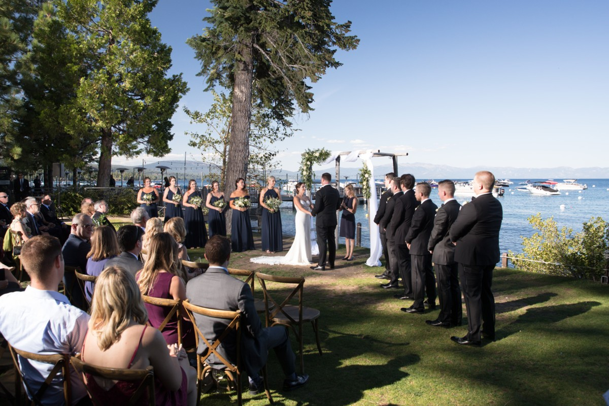 Marcella Camille Events - Lake Tahoe wedding planner - ceremony by lake