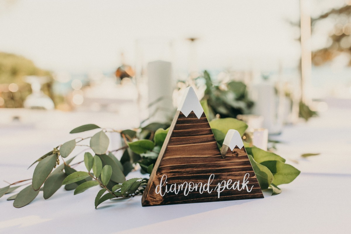Marcella Camille Events - Lake Tahoe wedding planner - table name decor