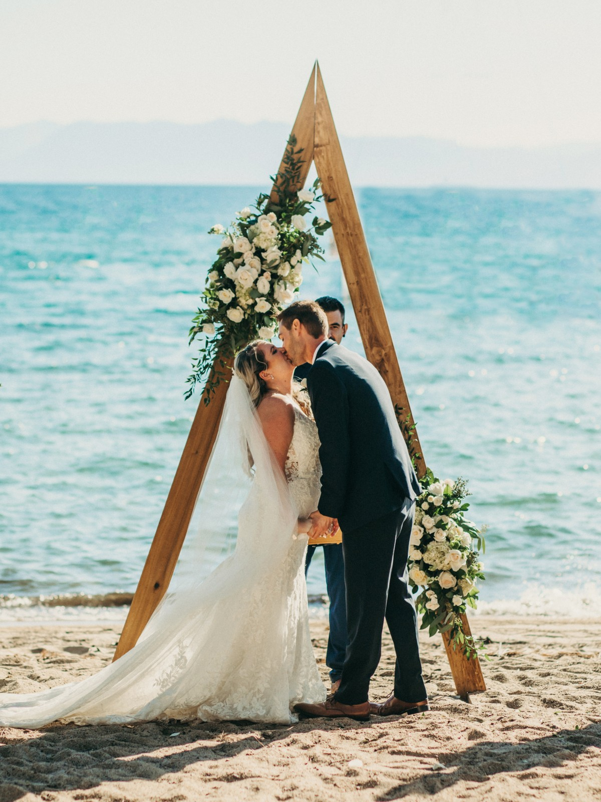 Marcella Camille Events - Lake Tahoe wedding planner - the kiss