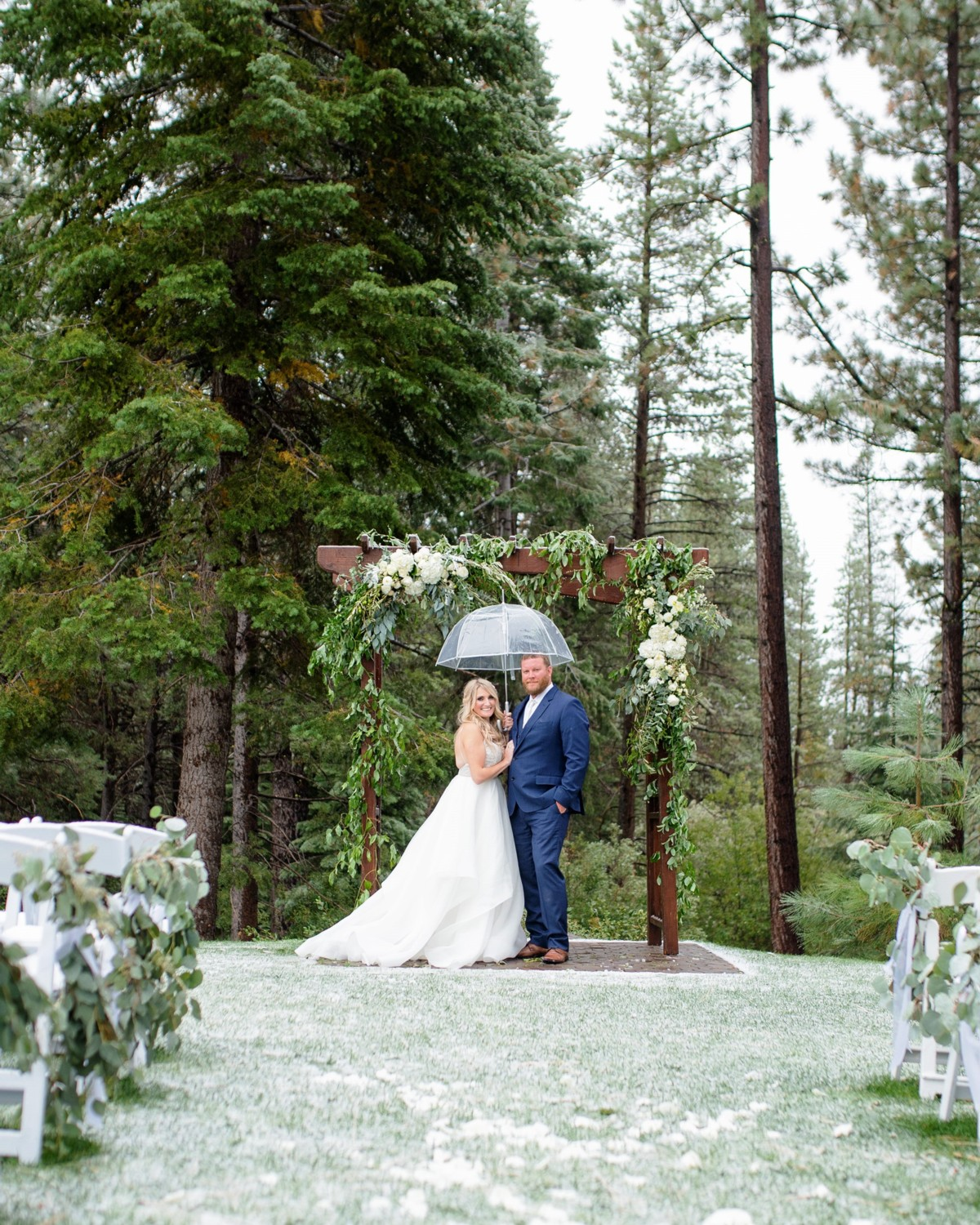 Marcella Camille Events - Lake Tahoe wedding planner - couple in ceremony area