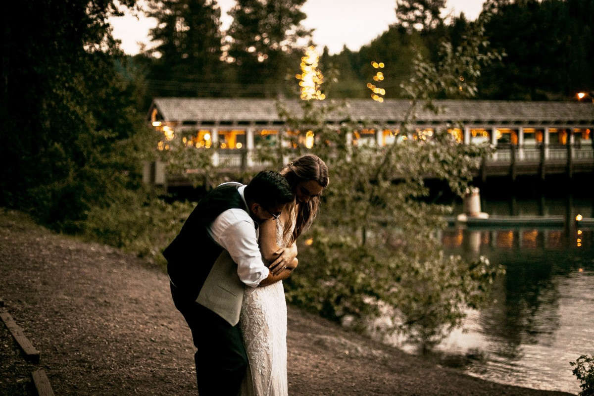 Marcella Camille Events - Lake Tahoe wedding planner - newlyweds enjoying a private moment