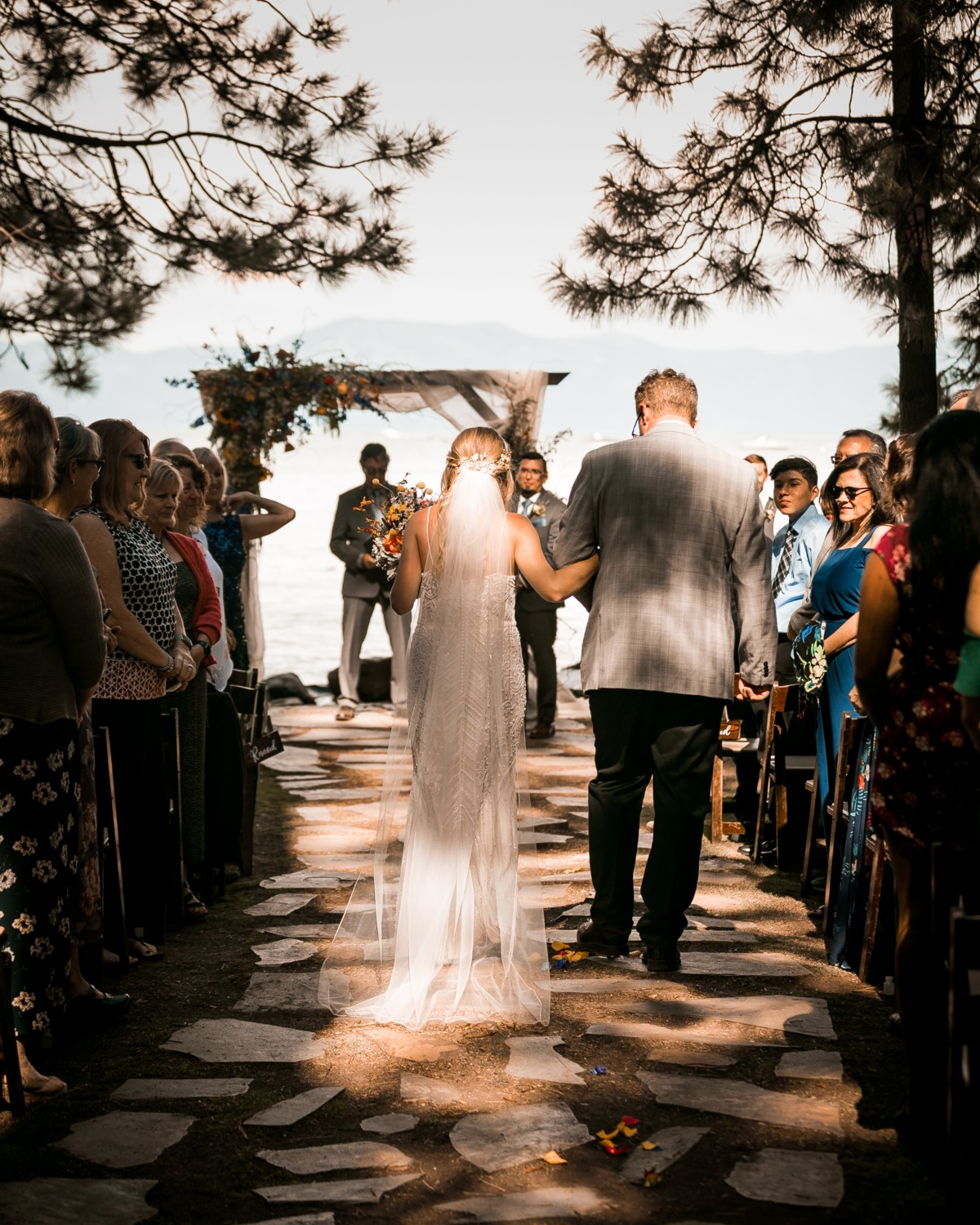 Marcella Camille Events - Lake Tahoe wedding planner - bride in sunlight