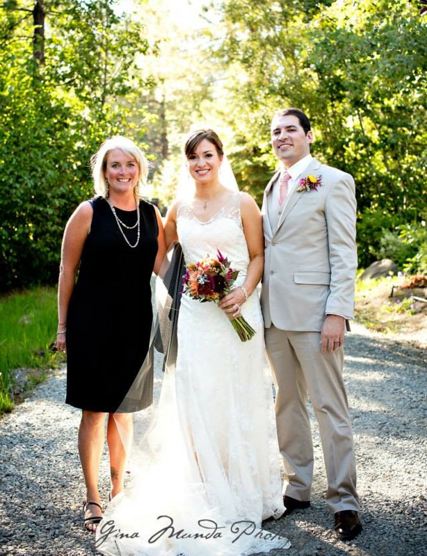 Mountain High Weddings Lake Tahoe Rev. Christa Deane with couple