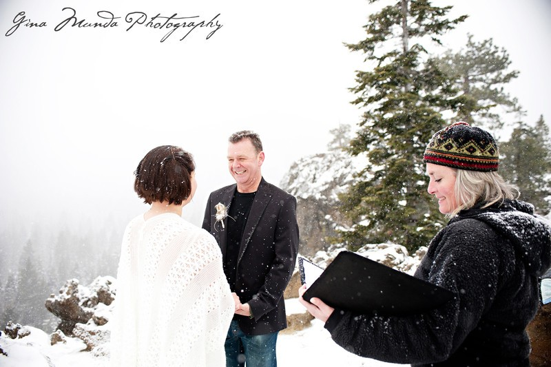 Mountain High Weddings Lake Tahoe winter ceremony