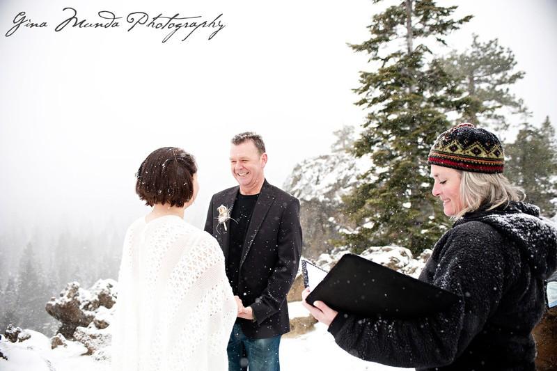 Mountain High Weddings Lake Tahoe winter ceremony