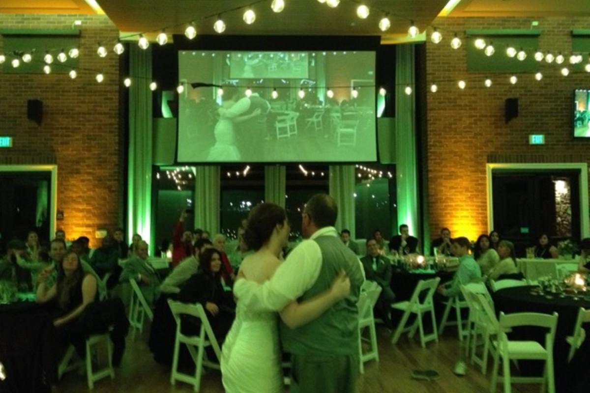 Music in Motion - Lake Tahoe weddings - couple watching their viedo