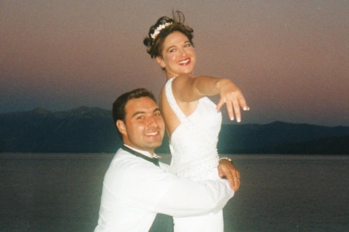 Music in Motion - Lake Tahoe weddings - couple by lakeshore