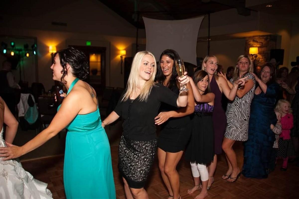 Music in Motion - Lake Tahoe weddings - conga line dancing