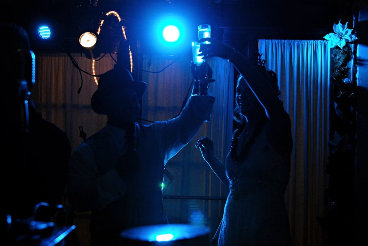 Music in Motion - Lake Tahoe weddings - bride toasting