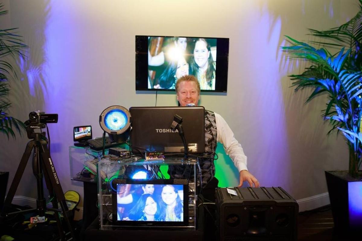 Music in Motion - Lake Tahoe weddings - DJ setup