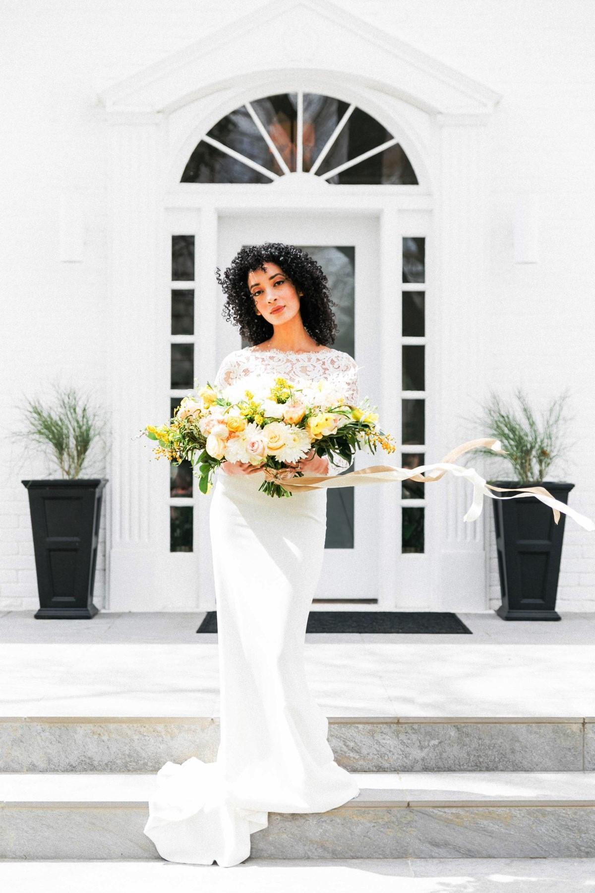 Nancy Rice Artistry - Lake Tahoe wedding hair & makeup - bride dark curly hair