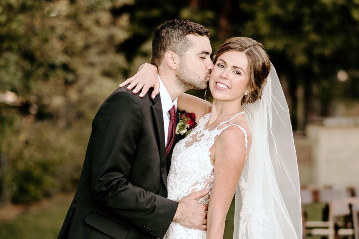 Nancy Rice Artistry - Lake Tahoe wedding hair & makeup - happy couple