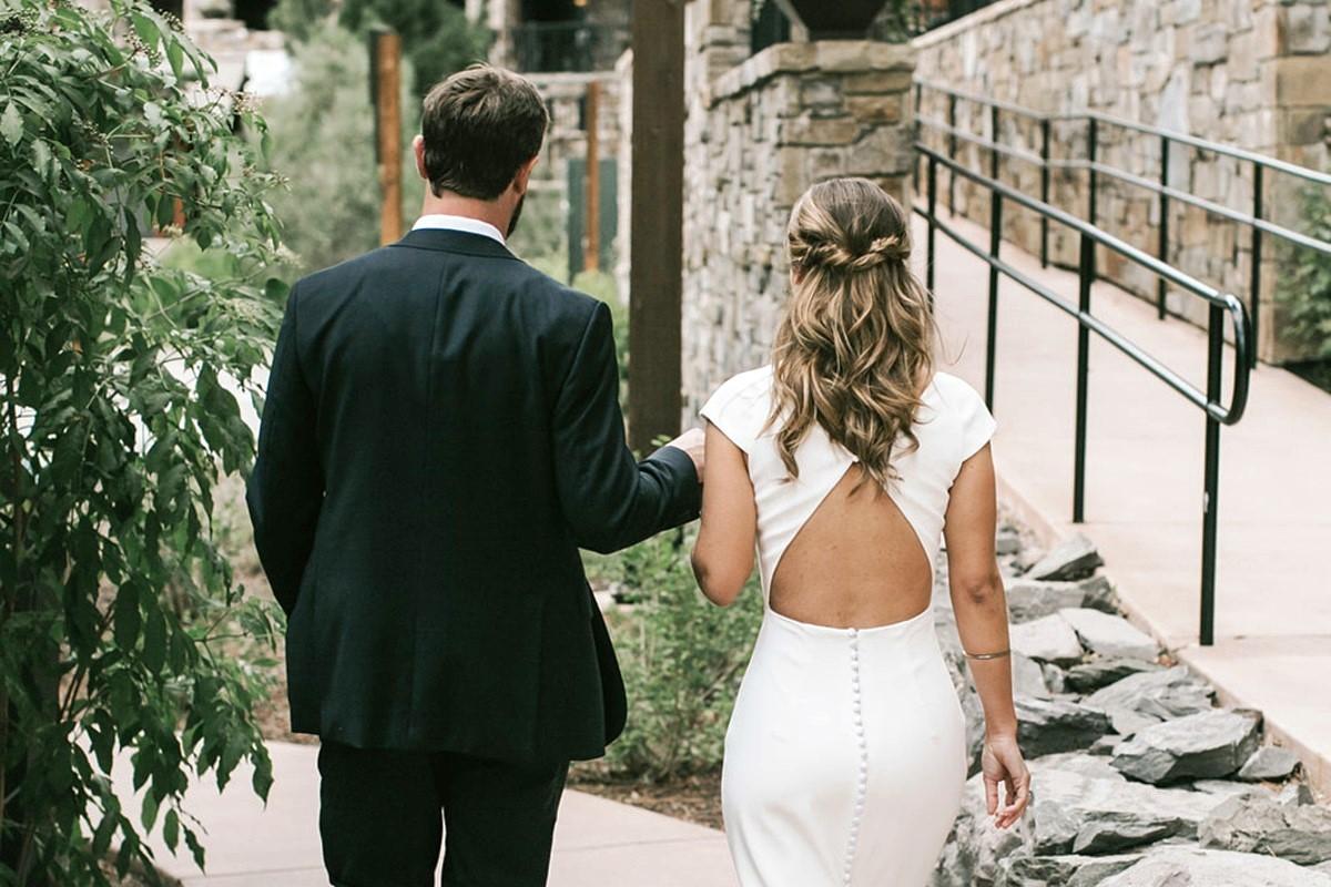 Nancy Rice Artistry - Lake Tahoe wedding hair & makeup - bride hair from back