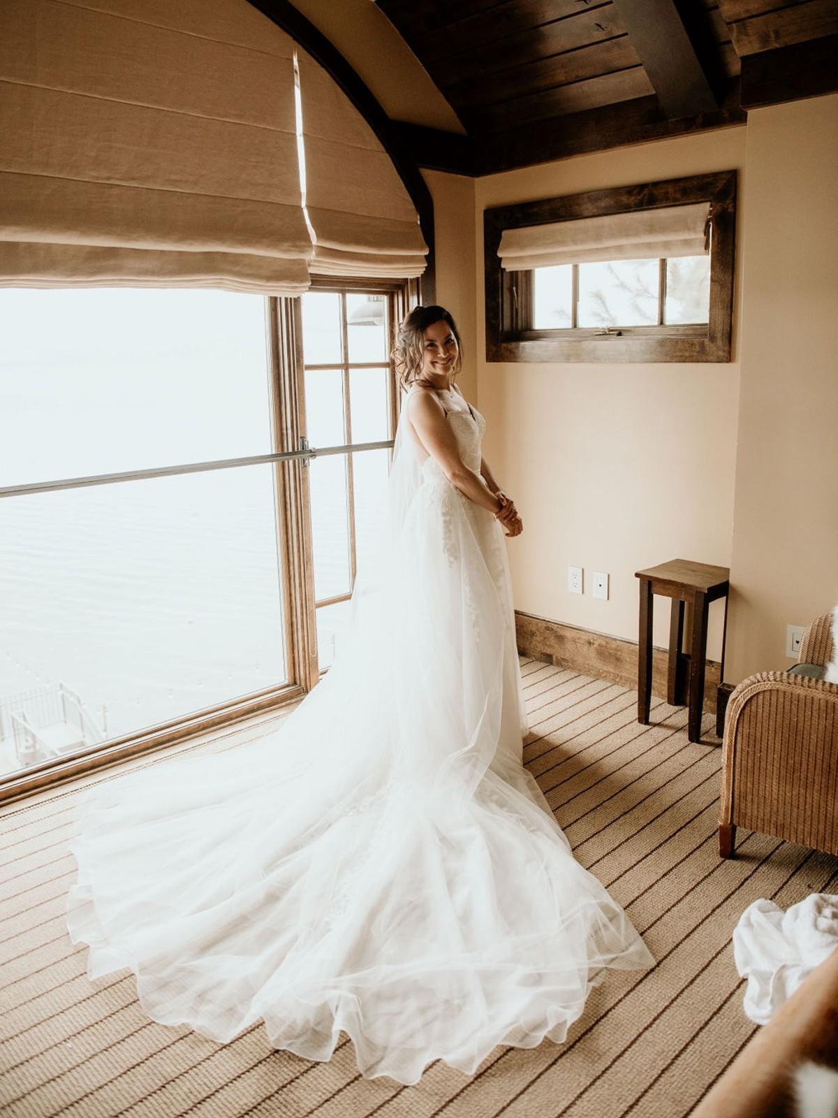 Nancy Rice Artistry - Lake Tahoe wedding hair & makeup - bride in dress