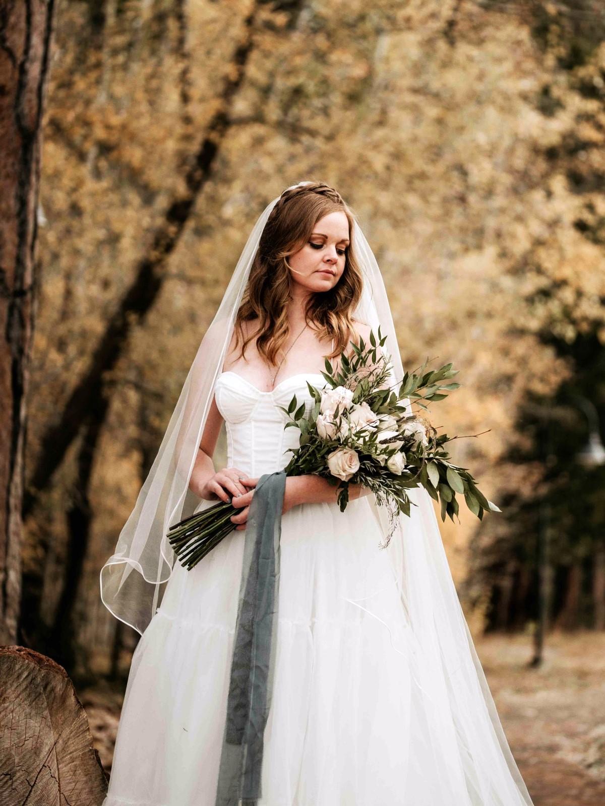 Nancy Rice Artistry - Lake Tahoe wedding hair & makeup - bride holding bouquet