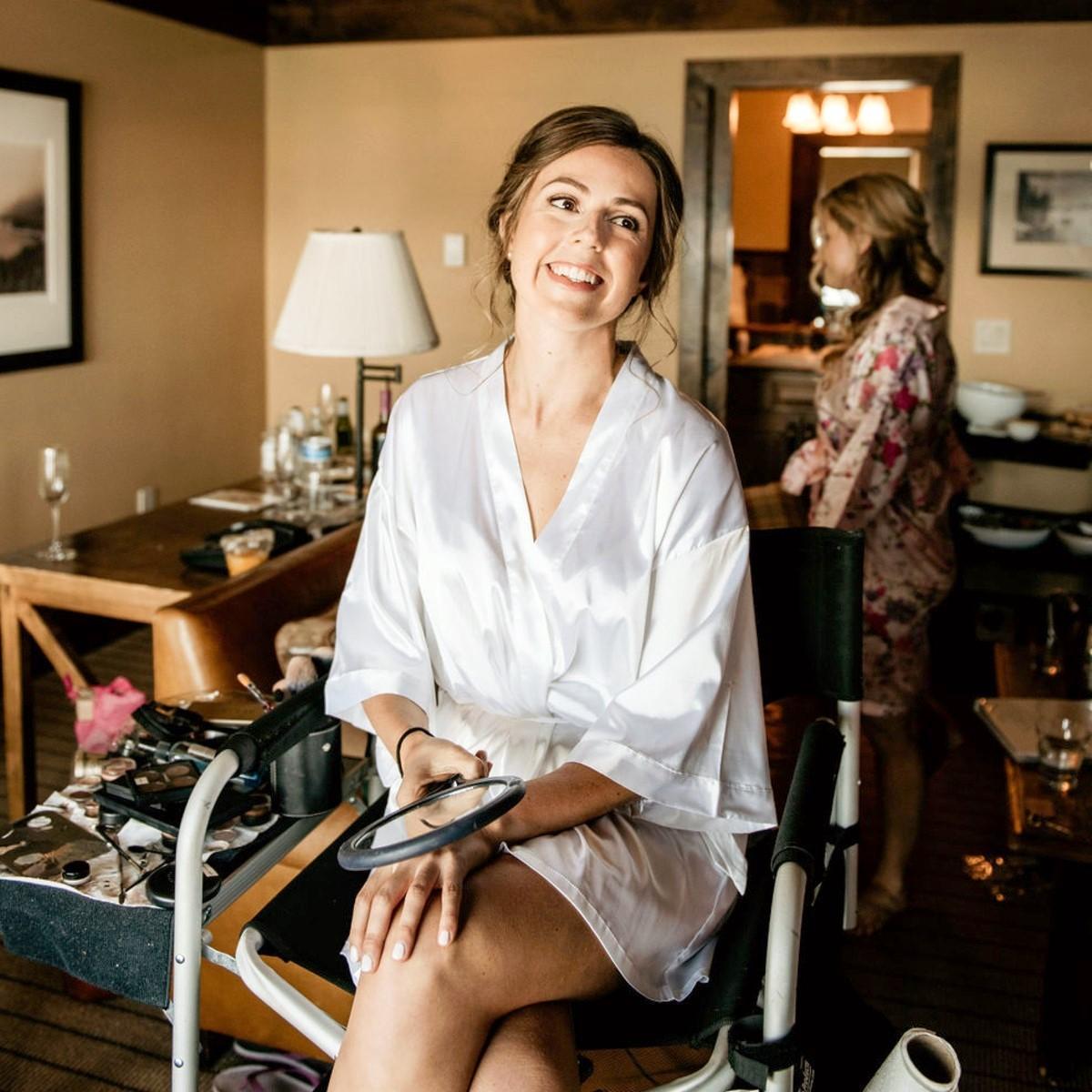 Nancy Rice Artistry - Lake Tahoe wedding hair & makeup - bride getting ready