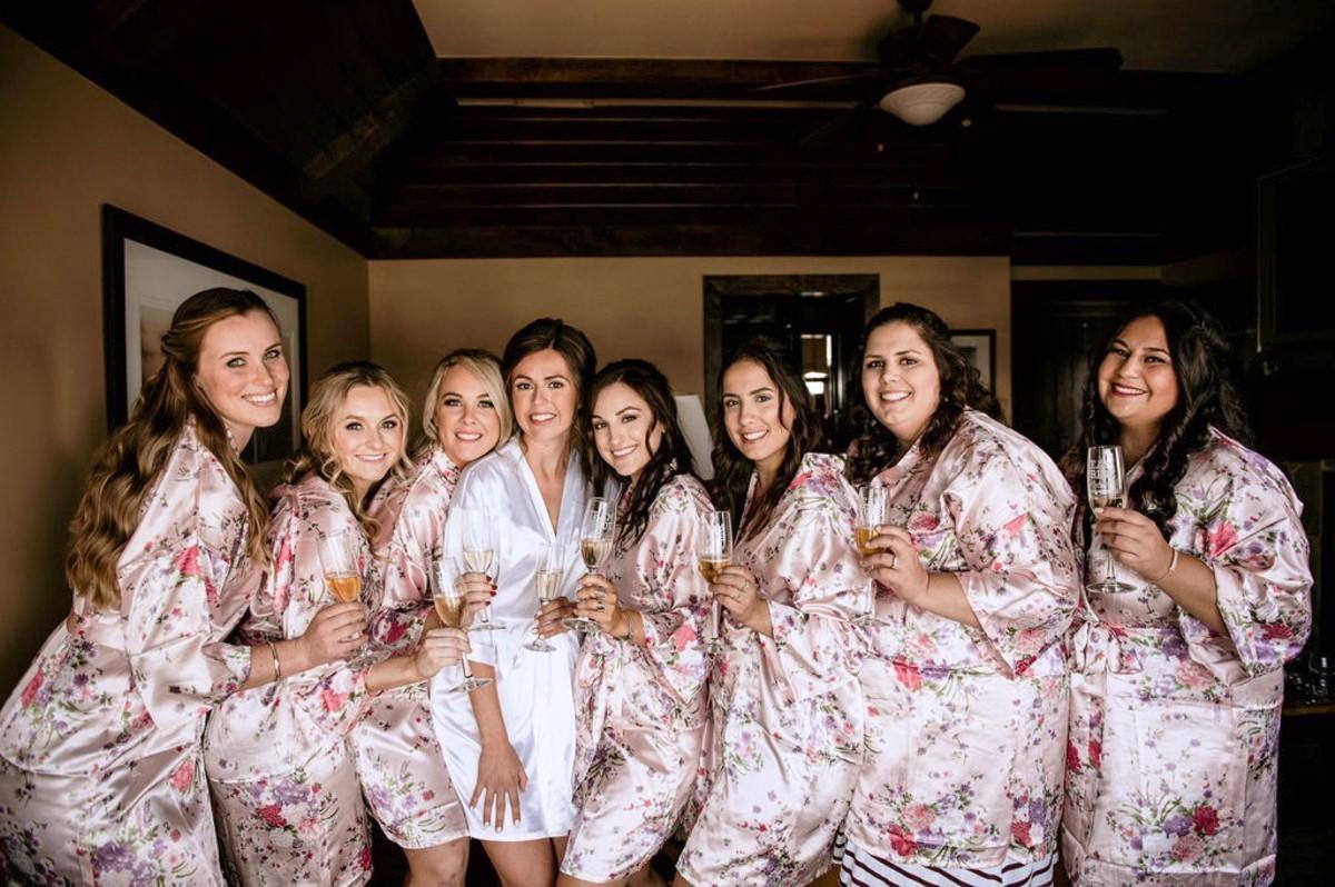 Nancy Rice Artistry - Lake Tahoe wedding hair & makeup - bride and bridesmaids toasting