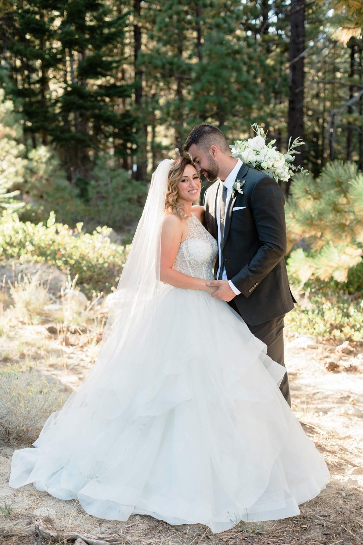 Nancy Rice Artistry - Lake Tahoe wedding hair & makeup - couple outdoors