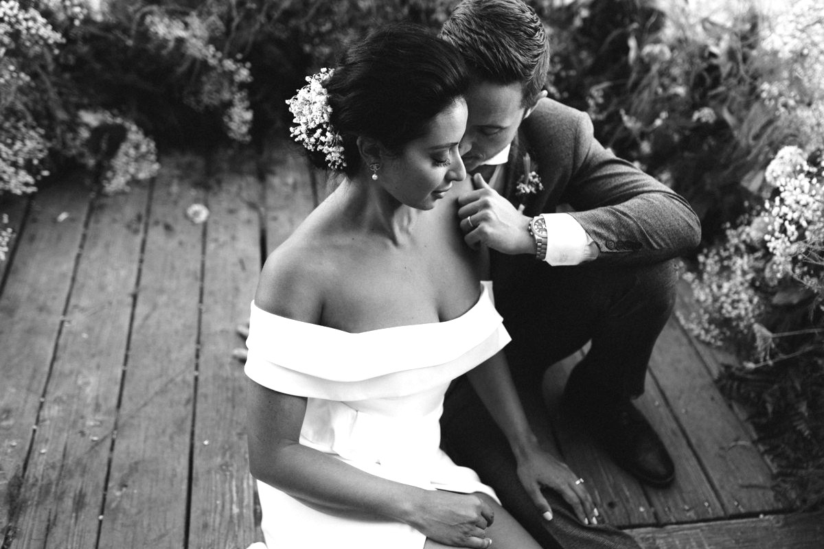 Nancy Rice Artistry - Lake Tahoe wedding hair & makeup - couple relaxing
