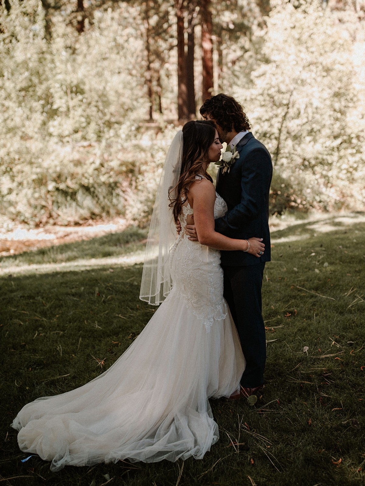 Nancy Rice Artistry - Lake Tahoe wedding hair & makeup - couple embracing
