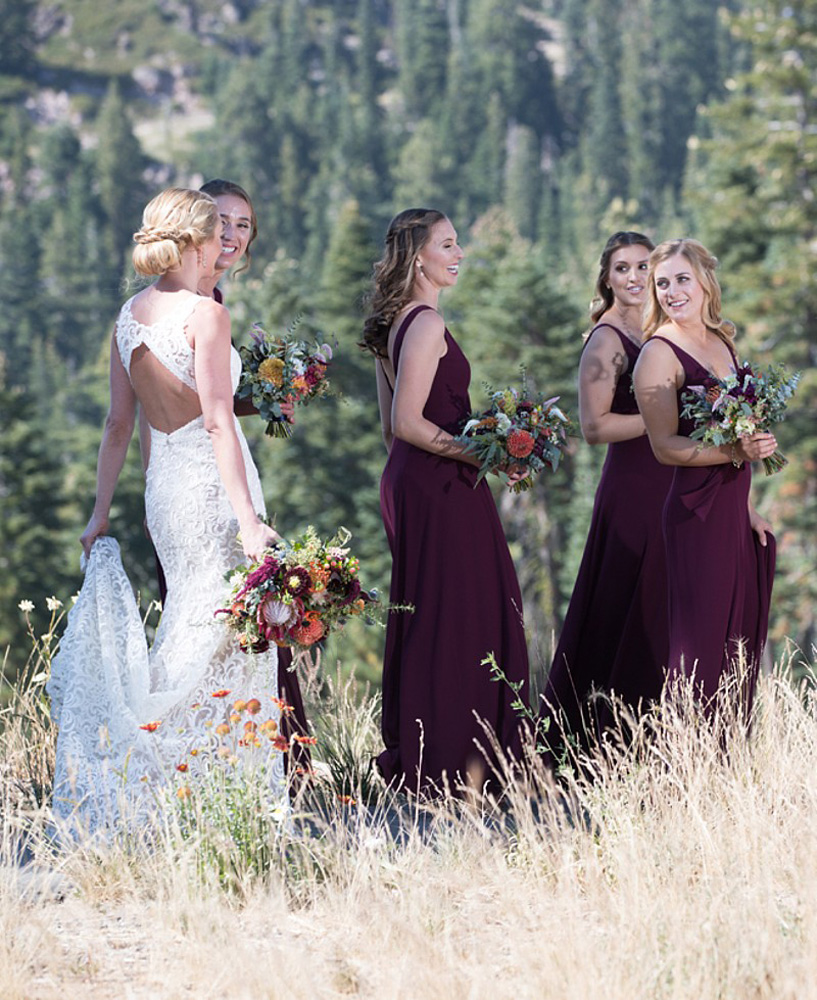 Ciprian Photography wedding - Northstar Lake Tahoe - bride and bridesmaids