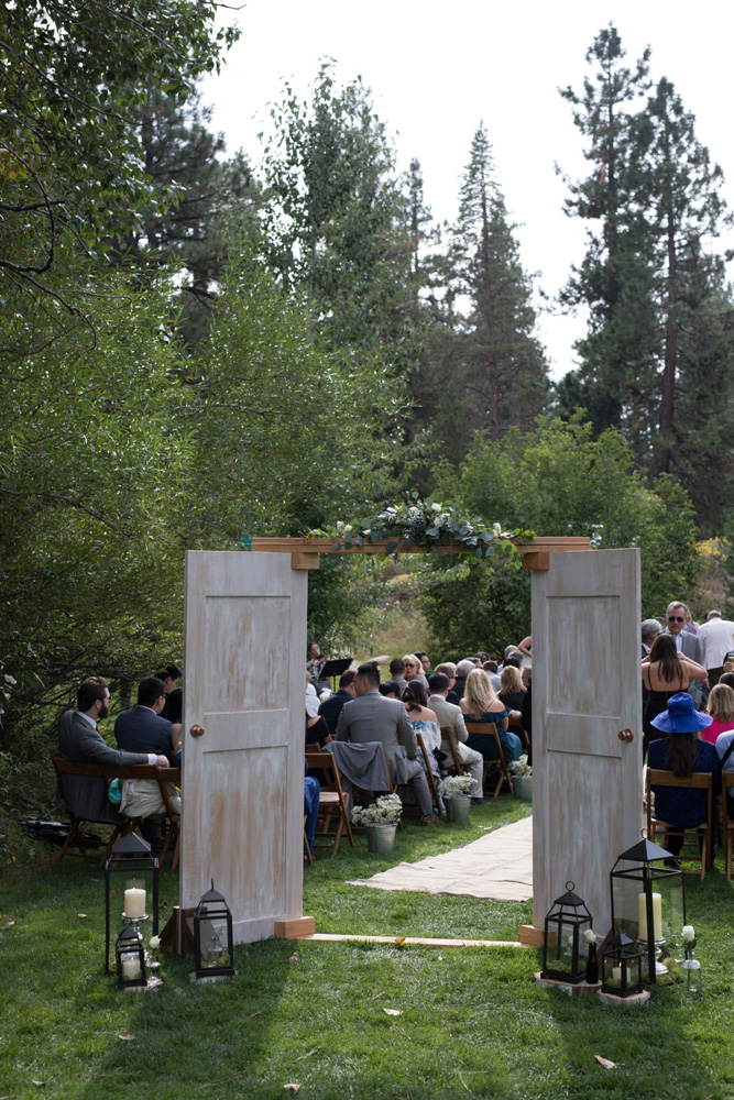 Truckee River Lake Tahoe wedding ceremony area