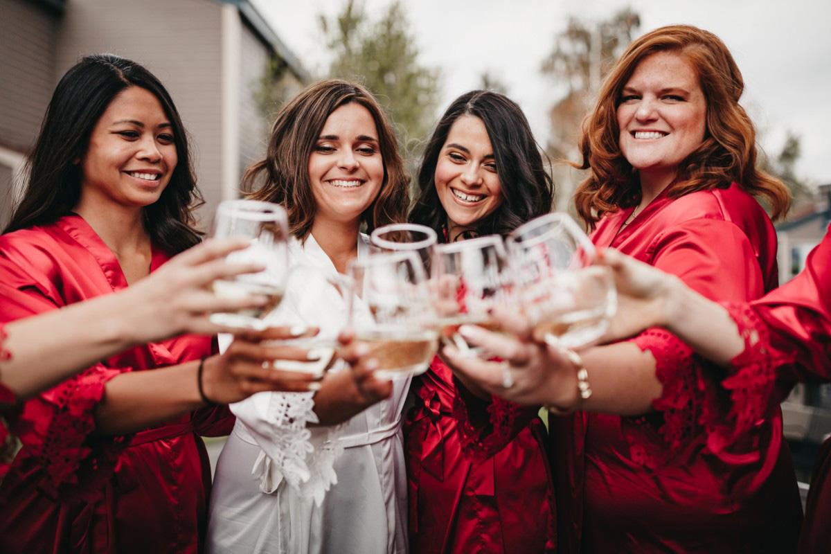 Lake Tahoe Heavenly wedding - bridal party getting ready