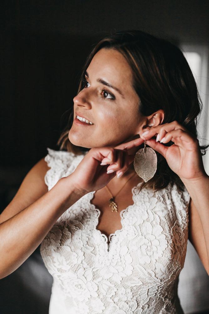 Lake Tahoe Heavenly wedding - bride getting ready