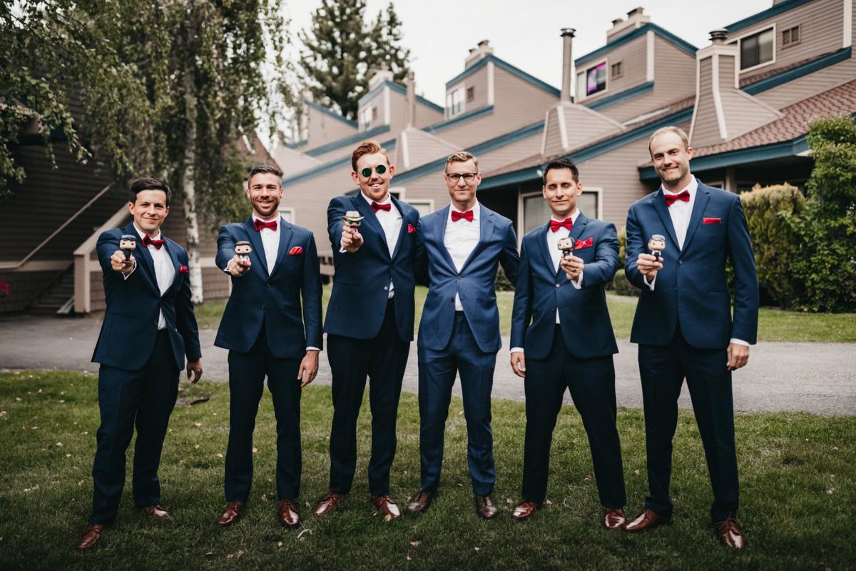 Lake Tahoe Heavenly wedding - groom's party