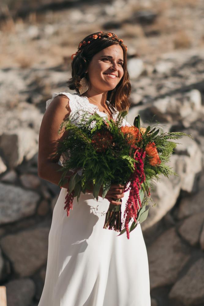 Lake Tahoe Heavenly wedding - bride walking to ceremony