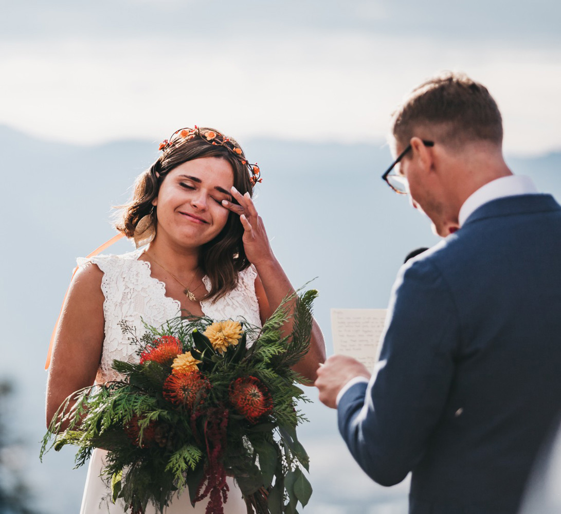Lake Tahoe Heavenly wedding - ceremony tearful moment