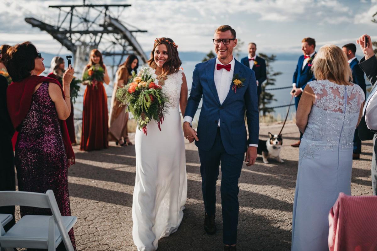 Lake Tahoe Heavenly wedding - just married
