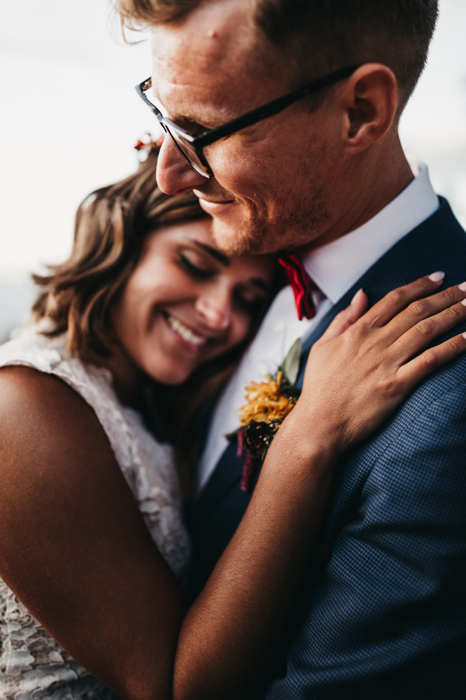 Lake Tahoe Heavenly wedding - happy couple after ceremony