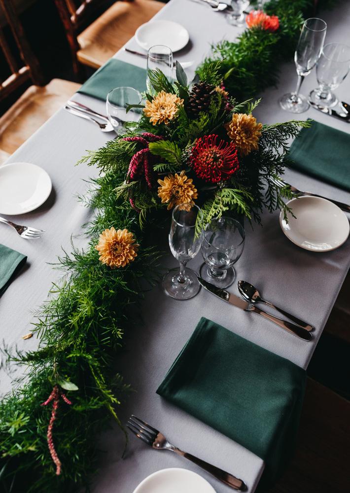 Lake Tahoe Heavenly wedding - reception table decor
