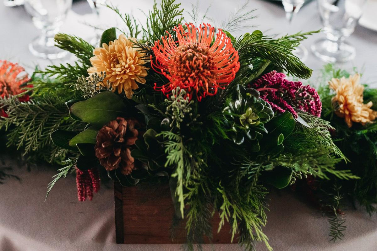 Lake Tahoe Heavenly wedding - reception table centerpiece