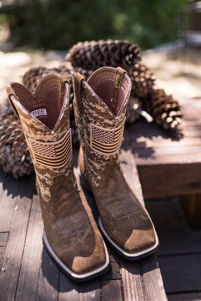 Forest Wedding near Lake Tahoe - groom's boots