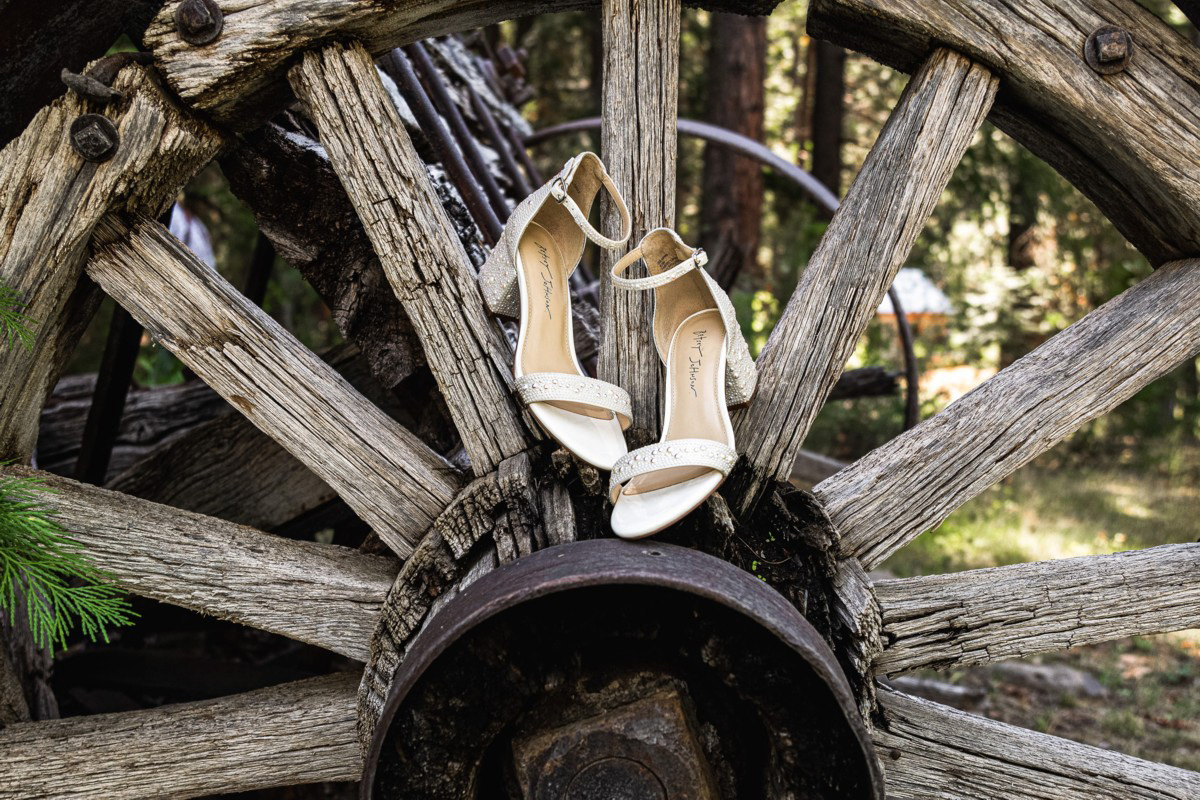 Forest Wedding near Lake Tahoe - bride's shoes