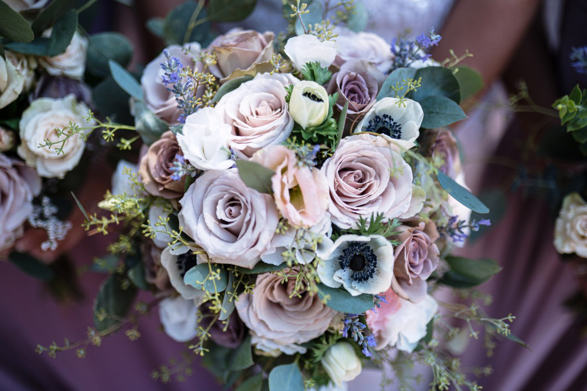 Forest Wedding near Lake Tahoe - bridal party bouquets