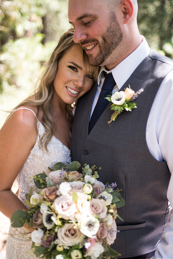 Forest Wedding near Lake Tahoe - first look #4