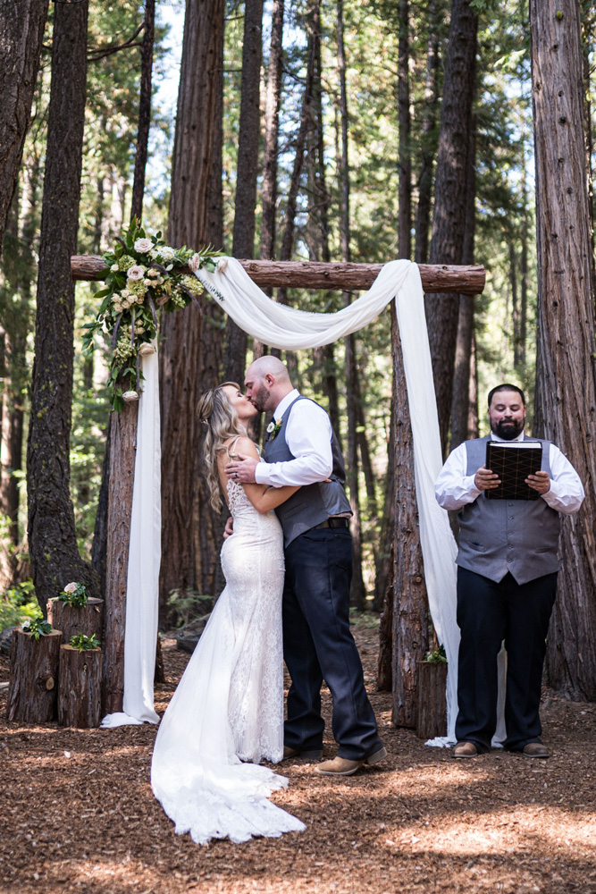 Forest Wedding near Lake Tahoe - you may kiss the bride