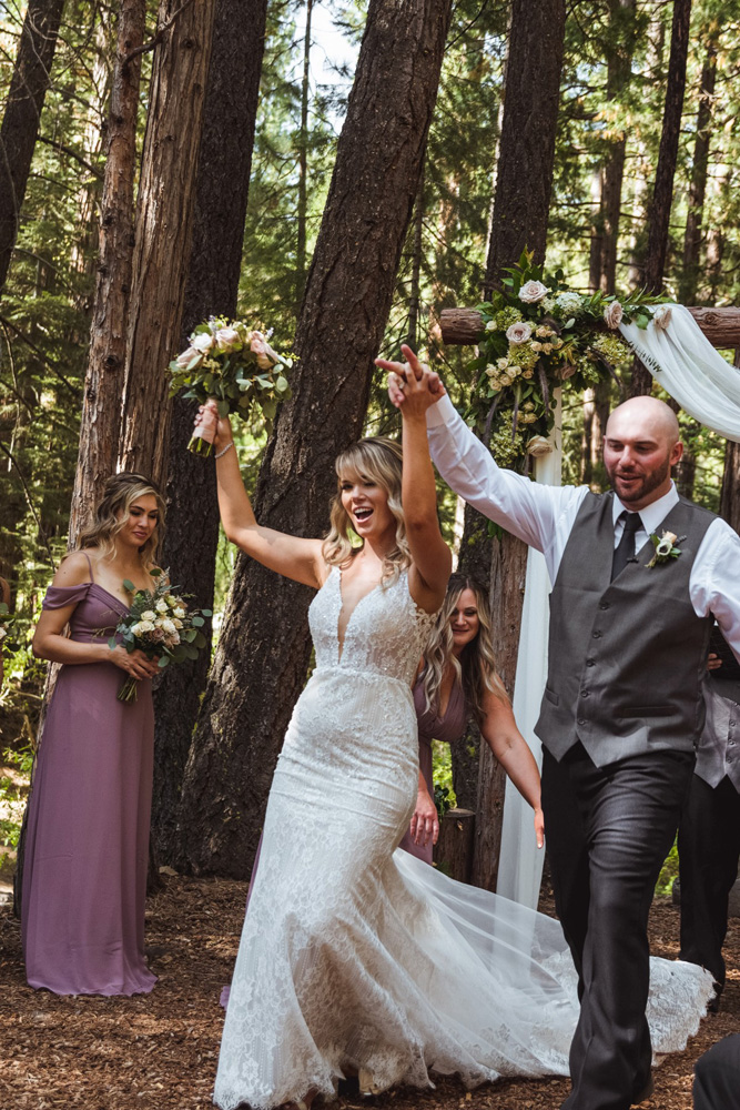 Forest Wedding near Lake Tahoe - just married
