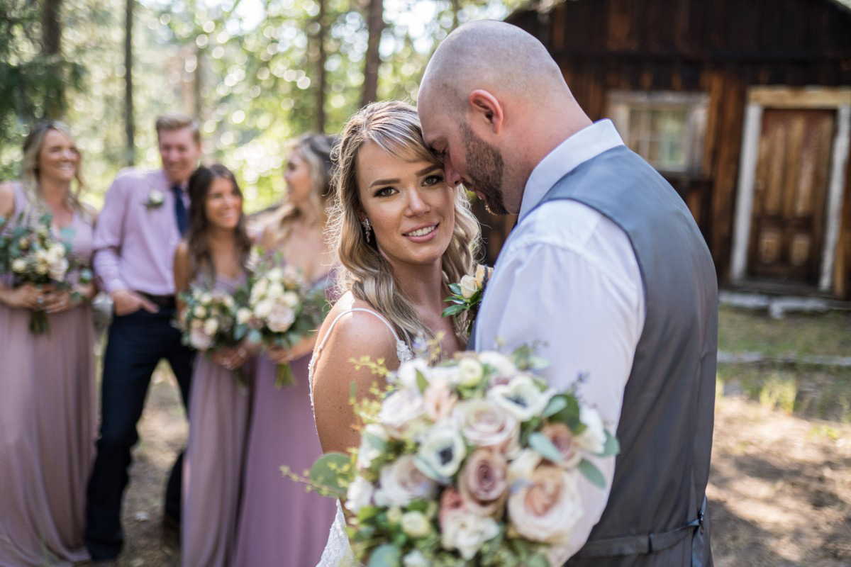 Forest Wedding near Lake Tahoe - the happy couple after ceremony